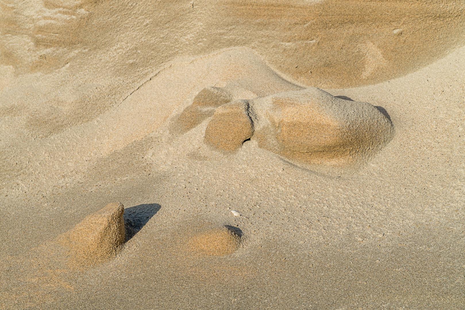 Zand strand vormen