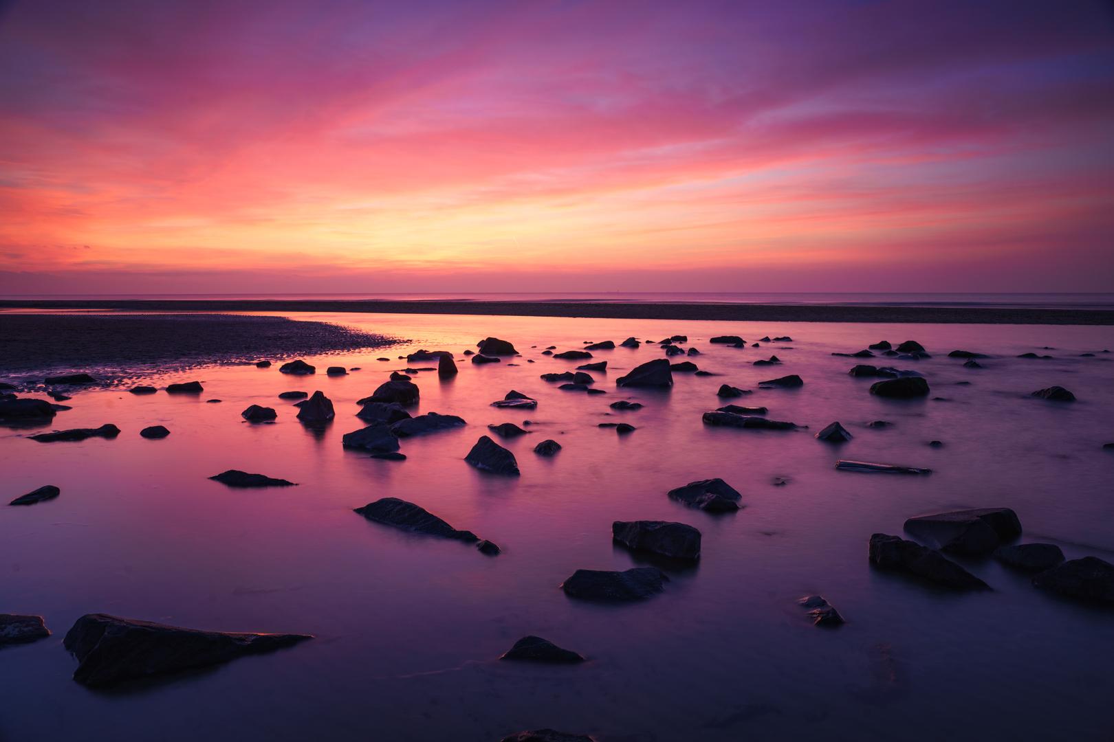 Katwijk, zonsondergang, Loes Belovics, Deel de Natuur